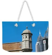 Low Angle View Of Buildings, Mobile Weekender Tote Bag