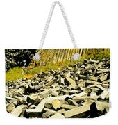 Low Angle View Of Devils Post Pile Weekender Tote Bag