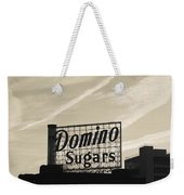 Low Angle View Of Domino Sugar Sign Weekender Tote Bag