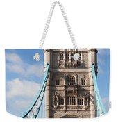 Low Angle View Of Tower Bridge, London Weekender Tote Bag