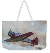 Low Pass Stunt Plane Weekender Tote Bag
