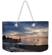 Low Tide At Salem's Lighthouse Weekender Tote Bag