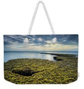 Low Tide At Swami's Weekender Tote Bag