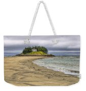 Low Tide In Popham Beach Maine Weekender Tote Bag