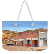 Lowell Arizona Pottery Building Old Police Car Weekender Tote Bag