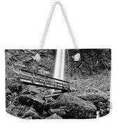 Lower Angle Of Elowah Falls In The Columbia River Gorge Weekender Tote Bag