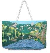 Lower Cataract Lake And Cataract Creek Falls Weekender Tote Bag