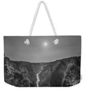 Lower Falls At Artist Point Bw  Weekender Tote Bag