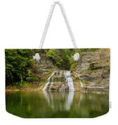 Lower Falls Of Enfield Glen Early Autumn Weekender Tote Bag
