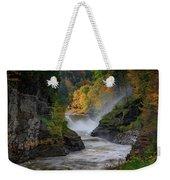 Lower Falls Of The Genesee River Weekender Tote Bag