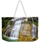 Lower Falls Profile At Enfield Glen Weekender Tote Bag