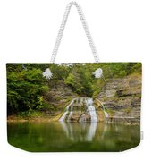Lower Falls Reflection Of Enfield Glen Weekender Tote Bag