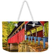 Lower Humbert Covered Bridge 2 - Paint Weekender Tote Bag