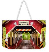 Lower Humbert Covered Bridge 5 Weekender Tote Bag