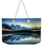 Lower Lake Sunset Weekender Tote Bag