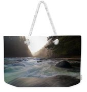 Lower Lewis River Falls During Sunset Weekender Tote Bag