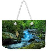 Lower Lynn Camp Falls Smoky Mountains Weekender Tote Bag