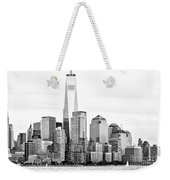 Lower Manhattan In Black And White Weekender Tote Bag