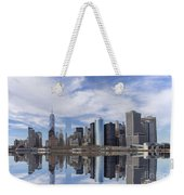Lower Manhattan Nyc Weekender Tote Bag