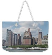 Lower Manhattan Panorama Weekender Tote Bag