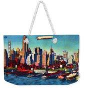 Lower Manhattan Skyline New York City Weekender Tote Bag
