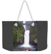 Lower Multnomah Falls Weekender Tote Bag