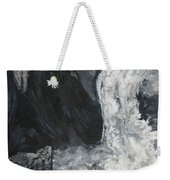 Lower Vernal Black And White  Weekender Tote Bag