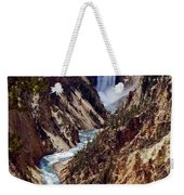 Lower Yellowstone Falls And River Weekender Tote Bag