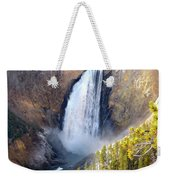 Lower Yellowstone Falls From Inspiration Point Weekender Tote Bag