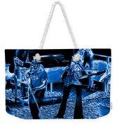 Ls #40 Enhanced In Blue Weekender Tote Bag