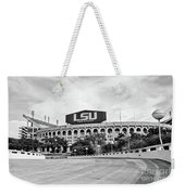 Lsu Tiger Stadium -bw Weekender Tote Bag