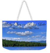 Luby Bay On Priest Lake Weekender Tote Bag