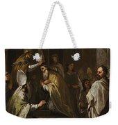 Luca Giordano Naples 1634 - 1705 The Consecration Of Saint Gregorio Armeno Weekender Tote Bag