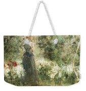Luca Postiglione Napoli 1876 - 1936 The White Fleurs-de-lis Weekender Tote Bag