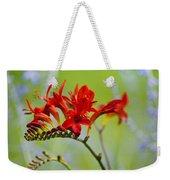 Lucifer Crocosima Flowers Weekender Tote Bag