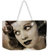Lucille Ball By Mary Bassett Weekender Tote Bag