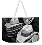 Luckenbach Hats Black And White Weekender Tote Bag
