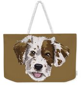 Lucky Brown Mixed Breed Weekender Tote Bag