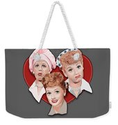 Lucy Expressions Gry Weekender Tote Bag