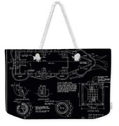 Lucy The Elephant Building Patent Blueprint 3 Weekender Tote Bag