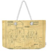 Lucy The Elephant Building Patent Blueprint  Weekender Tote Bag