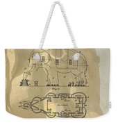 Lucy The Elephant Building Patent Weekender Tote Bag