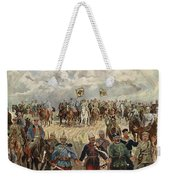 Ludwig Koch, Franz Josef I And Wilhelm II With Military Commanders During Wwi Weekender Tote Bag