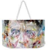 Ludwig Wittgenstein - Watercolor Portrait.2 Weekender Tote Bag