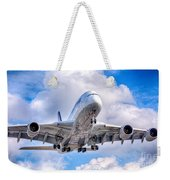 Lufthansa Airbus A380 In Hdr Weekender Tote Bag