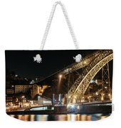 Bridge Dom Luis At Night. Porto Weekender Tote Bag