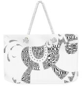Lullaby Rock Weekender Tote Bag