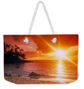 Lumahai Beach Sunset Weekender Tote Bag