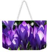 Luminous Floral Geometry Weekender Tote Bag