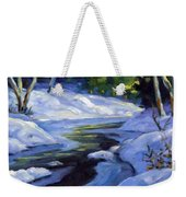 Luminous Snow Weekender Tote Bag